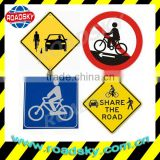 Reflective Triangle No Bicycle Traffic Signs