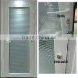 wanjia factory pvc doors with blinds