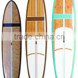 Popular sports surfing board bamboo paddle board / Paddleboard bamboo surfboard
