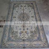 handmade double knots wool and silk apartment corridor carpet