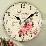 New Products Walden Crafts Cheap Decor Handmade Antique Wooden Clock Wall Clock