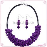 Wholesale new arriva personality statement jewelry set warm plush leather chain necklace set