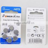 A675 Zinc-air hearing aid battery