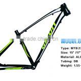 Competitive price high grade quality 6061 aluminum bike frame and aluminium mountain bike frame