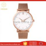 Luxury Rose Gold Mesh Strap Stainless Steel Women Watches With Japan Quartz Movement 5ATM Waterproof                                                                         Quality Choice
