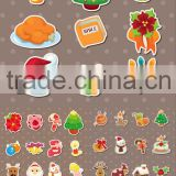 2013 Cartoon fashion promotion pvc sticker christmas sticker xmas pvc non removable window stickers