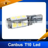 2015 new product ba9s canbus 5050smd 13led t10 ba9s led Car Smd Light ba9s 13smd Bulb No Obc Error Clearance Lights