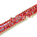 Lower Price Saim AB Crystal Strass Stone Cup Chain Trimming, Cup Chain Crystal Rhinestone Strass for Garment Design