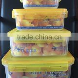 Good quality multifunctional fresh box round shape food grade clear plastic crisper