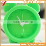 Fashion Design Colorful Silicone clock movement with alarm