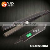 MCH digital LCD private label flat iron jet black professional hair straightener manufacturer hair styler salon equipment