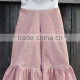 Hot sale!! New design girls ruffle pants set Wholesale knit ruffle pants for fall single ruffle girls shorts kids