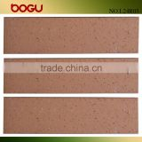 Brown red natural look ceramic tile wall brick ceramic clinker tile scuffing surface rustic finish 60x240mm