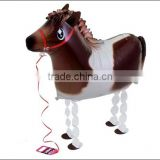 Horse balloon walking pet foil balloon toy for kids