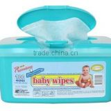 TOP Quality disposable alcohole free baby wet wipe with plastic cover with low price