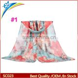 Ladies Scarf Fashion Flower Scarves Shawls 100% viscose Muslim Hijab 180*90cm Pashmina