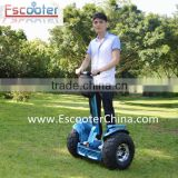72V battery powered 2 wheels off road escooter chariot golf cart electric chariot motorcycle balance scooter