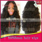 "Factory Wholesales Price--Brazilian 100% Virgin Human Hair Full Lace Wigs, Color 1B, Loose Wave, With Lace wigs STOCK(8""-22')"