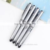 Metal led light ballpoint pen with stylus touch for phone promotional stylus pen with led light