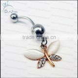cat eye stone butterfly navel belly button rings piercing jewelry