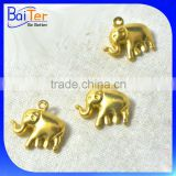 Cheap Gold Plated Elephant Charm Pendant Findings Wholesale