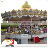 Popular in China cheap amusement park equipment backyard carousel musical carousel for sale