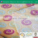 Changshu textile wholesale 100% polyester one side super soft embossed coral fleece blanket fabric