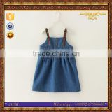 fashion denim sleeveless pretty baby girls dress patterns