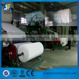 Single cylinder and single liner writing paper machine with good quality