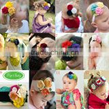 Free shipping baby headwear hair bands flower headbands