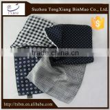 Customize silk scarf/handkerchief/pocket square with printing, hot-sale fashion suit handkerchief for business men