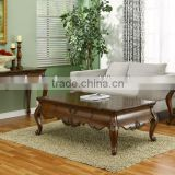CF30001 Unique Luxury classic Carved wooden Coffee Table & End Console Sofa Table Sets