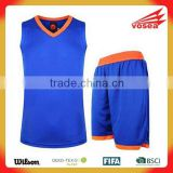Manufacture wholesale design european youth reversible cheap custom sublimation basketball uniform