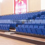 audience sport facility retractable tribune telescopic seating flex grandstand. portable indoor