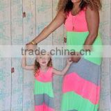 full-length skirt 3colors chevron mother and child dress for parents and children summer bouquet tutu show long dress