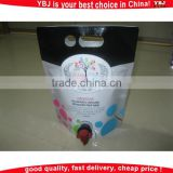 plastic liquid food packaging pouch bag, plastic red wine packaging pouch bag with valve, plastic fruit juice packaging