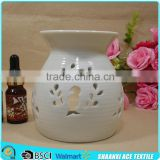 Factory made pure white romantic customized ceramic fragrance oil burner                                                                         Quality Choice