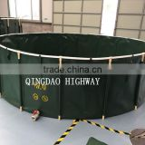 Indoor or outdoor blue or dark green color 30000 liters pvc tarpaulin fish pond