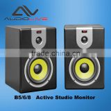 Made in China 6inch home bookshelf music system indoor Active Monitor Speaker