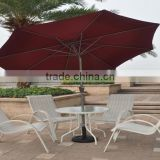 Marjorie Garden Patio Umbrella All Weather Sun Beach Parasol with Base                                                                         Quality Choice