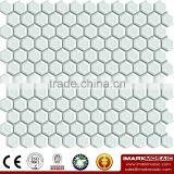 IMARK China Supplier Matt White Hexagon Ceramic Mosaic Tile/Decorative Bathroom Tile