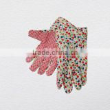 Economy Lady's Garden Work Glove with PVC Dotted Palm