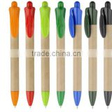 Novelty Eco-friendly Paper Ballpoint Pen With Plastic Leaf Clip for Promotional Gifts, Paper click action pen