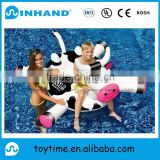 Giant pvc inflatable animal float lounger, promotional Dairy cow air bed water play toy for kids