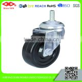 75mm Medium duty plain bearing caster wheel with brake