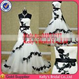 The latest dress design mermaid black and white plus size wedding gown