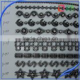 ab crystal rhinestone applique peacock prom dress fringes for clothes wedding decoration