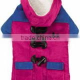 Best selling custom logo corduroy dog jacket pink clothes pets product32