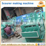 Mesh scourer machine,four heads stainless steel cleaning ball machine,scrubber making machine