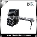 INQUIRY ABOUT Multifunctional 8 Drawer Flight Case with DJ Table and Wheels--RK8DRAWER58TC
